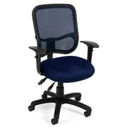 OFM Mesh Comfort Series Fabric Ergonomic Task Chair, Navy
