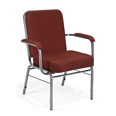 OFM Comfort Class Series Fabric Big And Tall Stack Chair, Wine Pinpoint