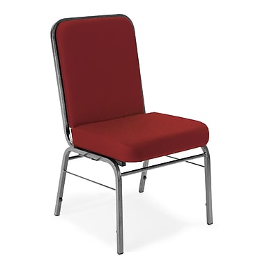 OFM Comfort Class Series Fabric Stack Chair, Wine