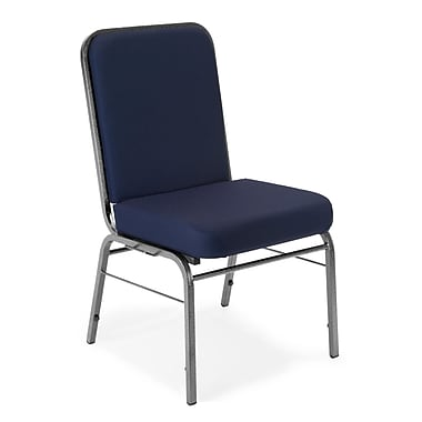 OFM Comfort Class Series Fabric Stack Chair, Navy