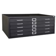 Sandusky® 5-Drawer Steel Flat File Cabinet, Black (244876-09)