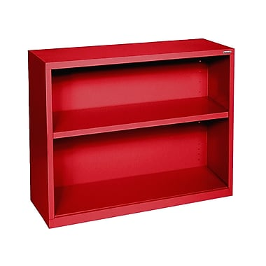 Sandusky® Elite 30in.H x 34 1/2in.W x 13in.D Steel Fully Adjustable Bookcase, Red