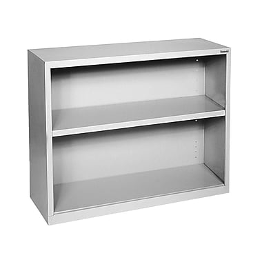 Sandusky® Elite 30in.H x 34 1/2in.W x 13in.D Steel Fully Adjustable Bookcase, Dove Gray
