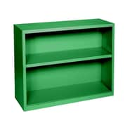 Sandusky® Elite 30in.H x 34 1/2in.W x 13in.D Steel Fully Adjustable Bookcase, Primary Green