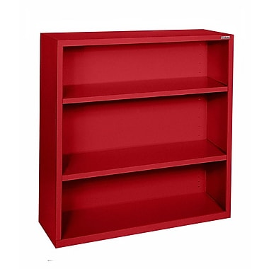 Sandusky® Elite 42in.H x 36in.W x 18in.D Steel Fully Adjustable Bookcase, Red
