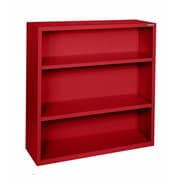 "Sandusky® Elite 42""H x 34 1/2""W x 13""D Steel Fully Adjustable Bookcase, Red"