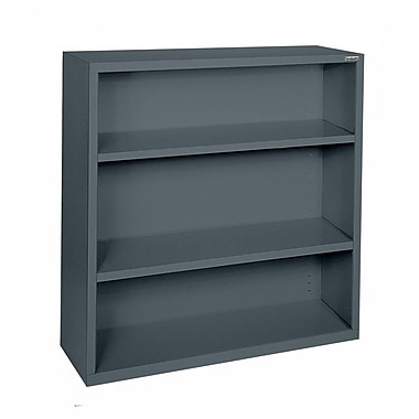Sandusky® Elite 42in.H x 34 1/2in.W x 13in.D Steel Fully Adjustable Bookcase, Charcoal