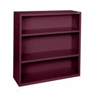 Sandusky® Elite 42in.H x 36in.W x 18in.D Steel Fully Adjustable Bookcase, Burgundy