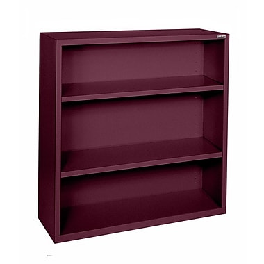 Sandusky® Elite 42in.H x 46in.W x 18in.D Steel Fully Adjustable Bookcase, Burgundy