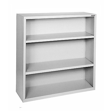 Sandusky® Elite 42in.H x 34 1/2in.W x 13in.D Steel Fully Adjustable Bookcase, Dove Gray