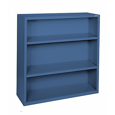 Sandusky® Elite 42in.H x 46in.W x 18in.D Steel Fully Adjustable Bookcase, Blue