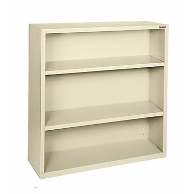 Sandusky® Elite 42in.H x 46in.W x 18in.D Steel Fully Adjustable Bookcase, Putty