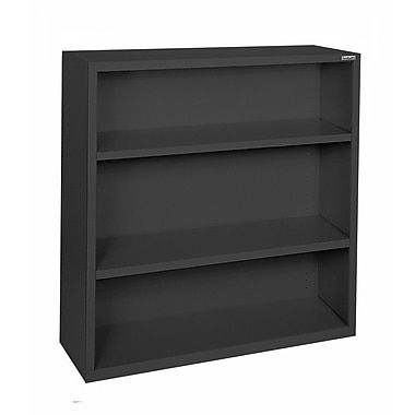 Sandusky® Elite 42in.H x 34 1/2in.W x 13in.D Steel Fully Adjustable Bookcase, Black