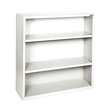 Sandusky® Elite 42in.H x 46in.W x 18in.D Steel Fully Adjustable Bookcase, Standard White