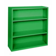 Sandusky® Elite 42in.H x 46in.W x 18in.D Steel Fully Adjustable Bookcase, Primary Green