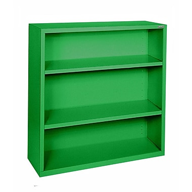 Sandusky® Elite 42in.H x 34 1/2in.W x 13in.D Steel Fully Adjustable Bookcase, Primary Green