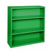 "Sandusky® Elite 42""H x 36""W x 18""D Steel Fully Adjustable Bookcase, Primary Green"
