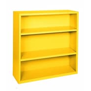 Sandusky® Elite 42in.H x 46in.W x 18in.D Steel Fully Adjustable Bookcase, Yellow