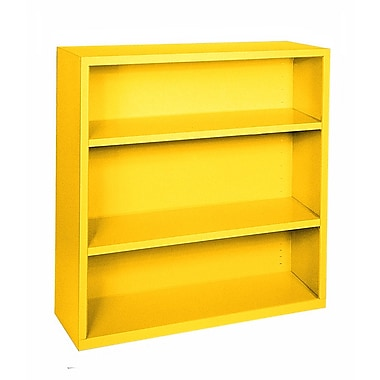 Sandusky® Elite 42in.H x 34 1/2in.W x 13in.D Steel Fully Adjustable Bookcase, Yellow