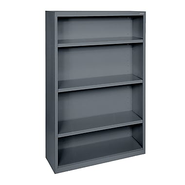 Sandusky® Elite 52in.H x 34in.W x 12in.D Steel Fully Adjustable Bookcase, Charcoal