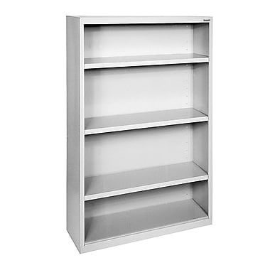 Sandusky® Elite 52in.H x 34in.W x 12in.D Steel Fully Adjustable Bookcase, Dove Gray