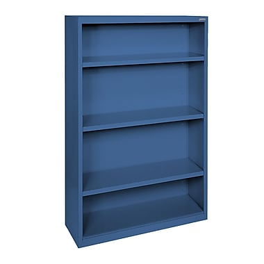 Sandusky® Elite 52in.H x 34in.W x 12in.D Steel Fully Adjustable Bookcase, Blue