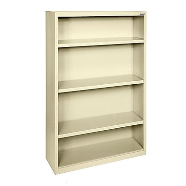 Sandusky® Elite 60in.H x 34in.W x 12in.D Steel Fully Adjustable Bookcase, Putty