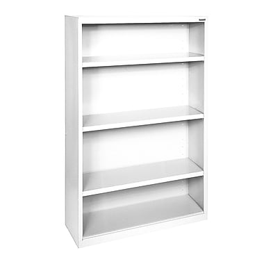 Sandusky® Elite 60in.H x 34in.W x 12in.D Steel Fully Adjustable Bookcase, Standard White