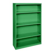 Sandusky® Elite 60in.H x 34in.W x 12in.D Steel Fully Adjustable Bookcase, Primary Green