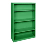 Sandusky® Elite 60H x 34W x 12D Steel Fully Adjustable Bookcase, Primary Green