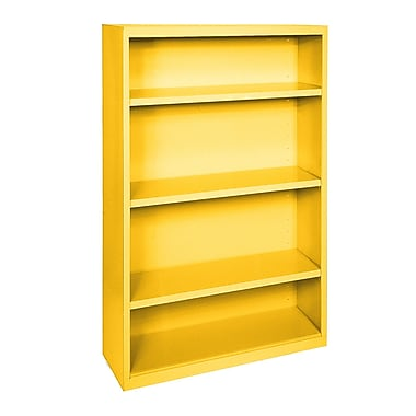 Sandusky® Elite 52in.H x 34in.W x 12in.D Steel Fully Adjustable Bookcase, Yellow