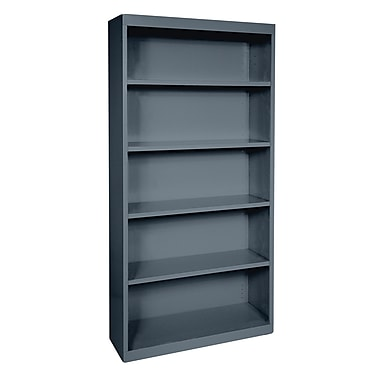 Sandusky® Elite 72in.H x 36in.W x 18in.D Steel Fully Adjustable Bookcase, Charcoal