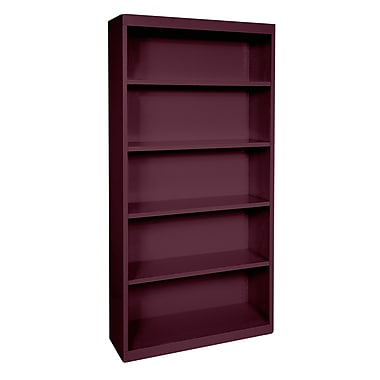 Sandusky® Elite 72in.H x 36in.W x 18in.D Steel Fully Adjustable Bookcase, Burgundy