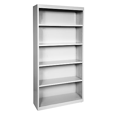 Sandusky® Elite 72in.H x 46in.W x 18in.D Steel Fully Adjustable Bookcase, Dove Gray
