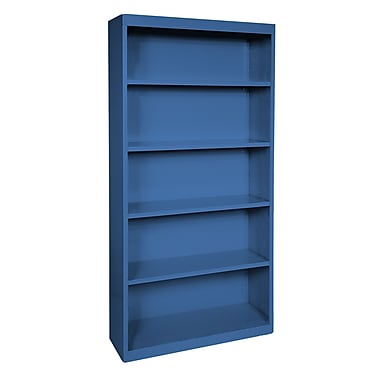 Sandusky® Elite 72in.H x 36in.W x 18in.D Steel Fully Adjustable Bookcase, Blue