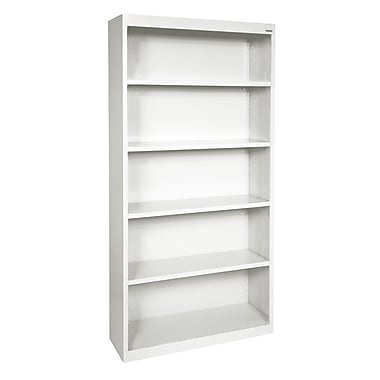 Sandusky® Elite 72in.H x 34in.W x 12in.D Steel Fully Adjustable Bookcase, Standard White