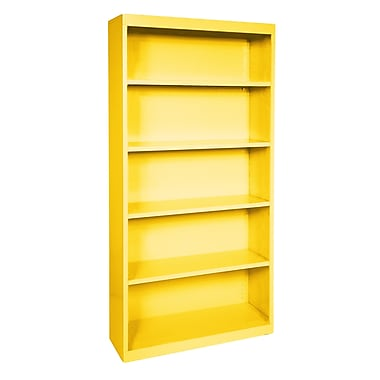 Sandusky® Elite 72in.H x 34in.W x 12in.D Steel Fully Adjustable Bookcase, Yellow