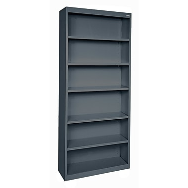 Sandusky® Elite 82in.H x 34in.W x 12in.D Steel Fully Adjustable Bookcase, Charcoal