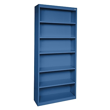 Sandusky® Elite 82in.H x 34in.W x 12in.D Steel Fully Adjustable Bookcase, Blue