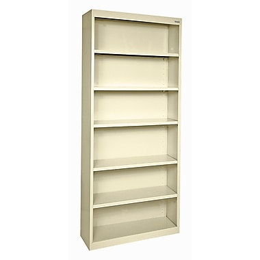 Sandusky® Elite 84in.H x 36in.W x 18in.D Steel Fully Adjustable Bookcase, Putty