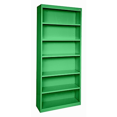 Sandusky® Elite 82in.H x 34in.W x 12in.D Steel Fully Adjustable Bookcase, Primary Green