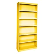 Sandusky® Elite 82in.H x 34in.W x 12in.D Steel Fully Adjustable Bookcase, Yellow
