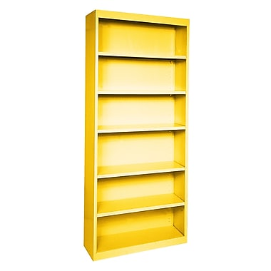 Sandusky® Elite 84in.H x 36in.W x 18in.D Steel Fully Adjustable Bookcase, Yellow