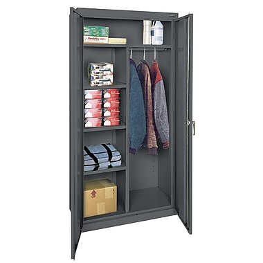 Sandusky® Classic Series 72in.H x 36in.W x 18in.D Steel Combination Storage Cabinet, Charcoal