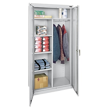 Sandusky® Classic Series 72in.H x 36in.W x 18in.D Steel Combination Storage Cabinet, Dove Gray