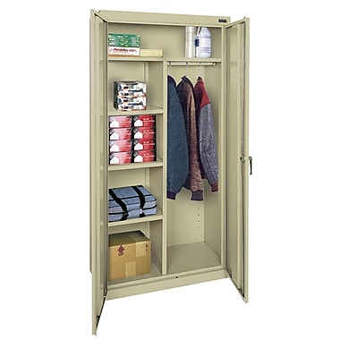 Sandusky® Classic Series 72in.H x 36in.W x 18in.D Steel Combination Storage Cabinet, Putty