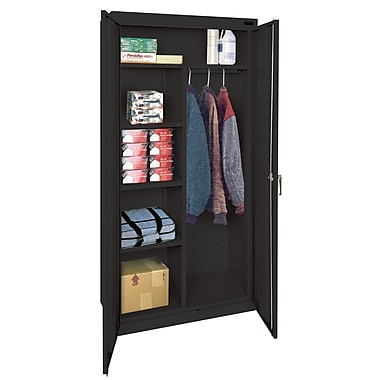 Sandusky® Classic Series 72in.H x 36in.W x 18in.D Steel Combination Storage Cabinet, Black