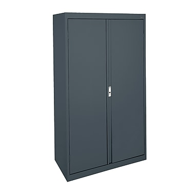 Sandusky® System Series 64in.H x 36in.W x 18in.D Steel Double Door Storage Cabinet, Charcoal