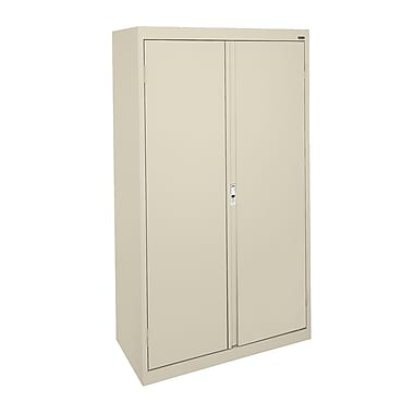 Sandusky® System Series 64in.H x 30in.W x 18in.D Steel Double Door Storage Cabinet, Putty