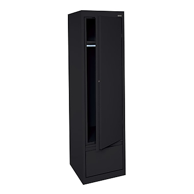 Sandusky® Wardrobe Storage Cabinet with File Drawer, Black